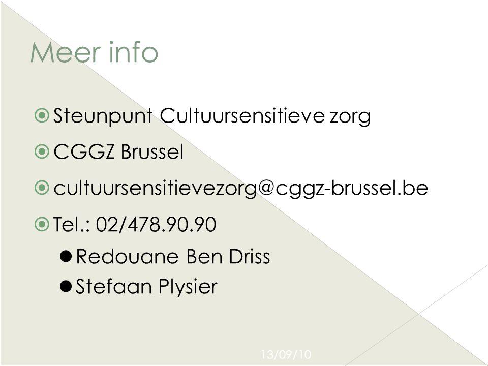 Meer info Steunpunt Cultuursensitieve zorg CGGZ Brussel
