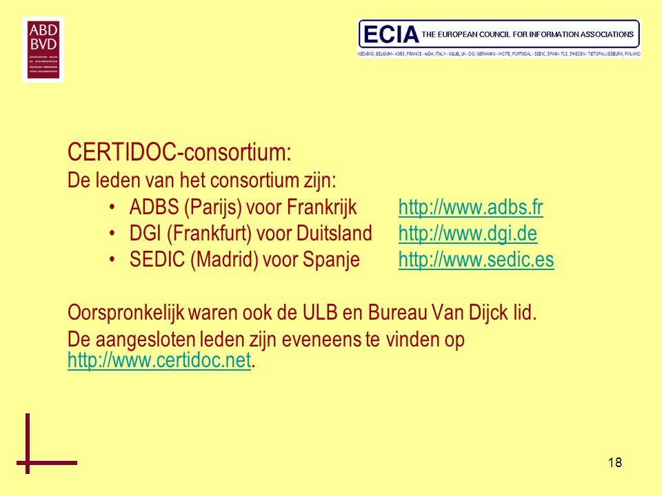 CERTIDOC-consortium: