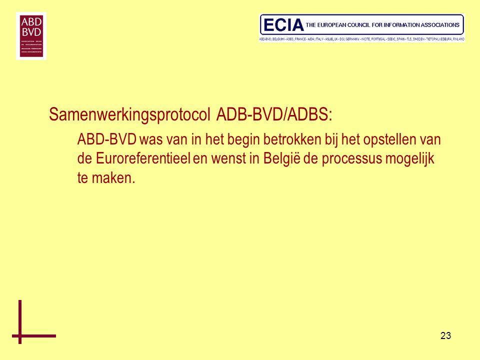 Samenwerkingsprotocol ADB-BVD/ADBS: