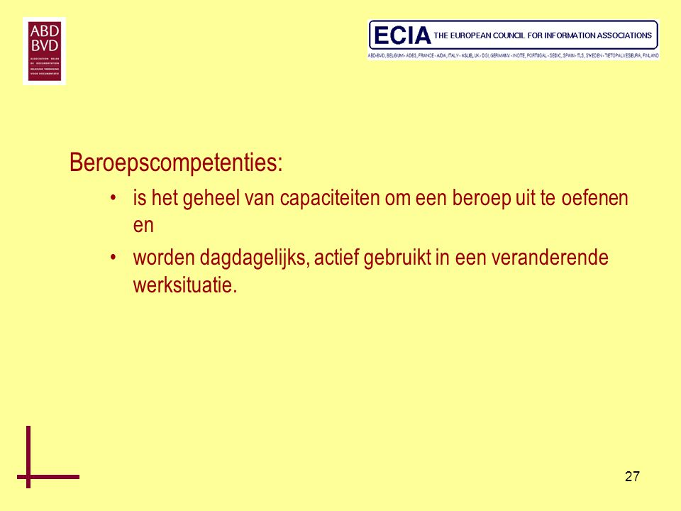 Beroepscompetenties: