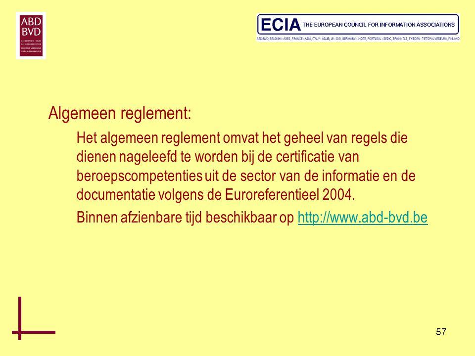Algemeen reglement: