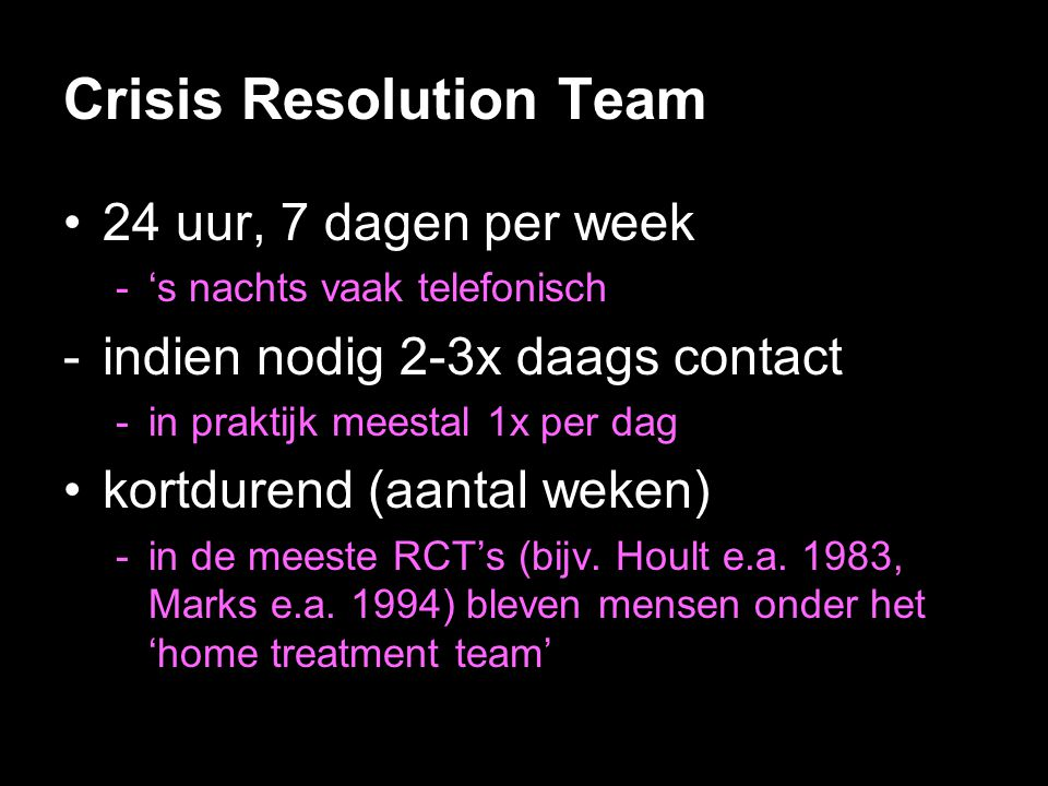 Crisis Resolution Team