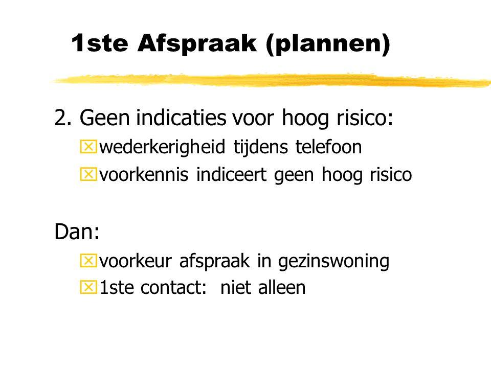 1ste Afspraak (plannen)