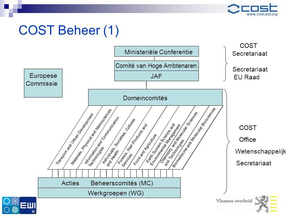 COST Beheer (1) COST COST Ministeriële Conferentie