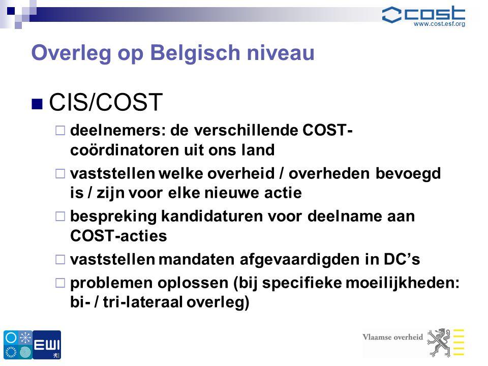 Overleg op Belgisch niveau
