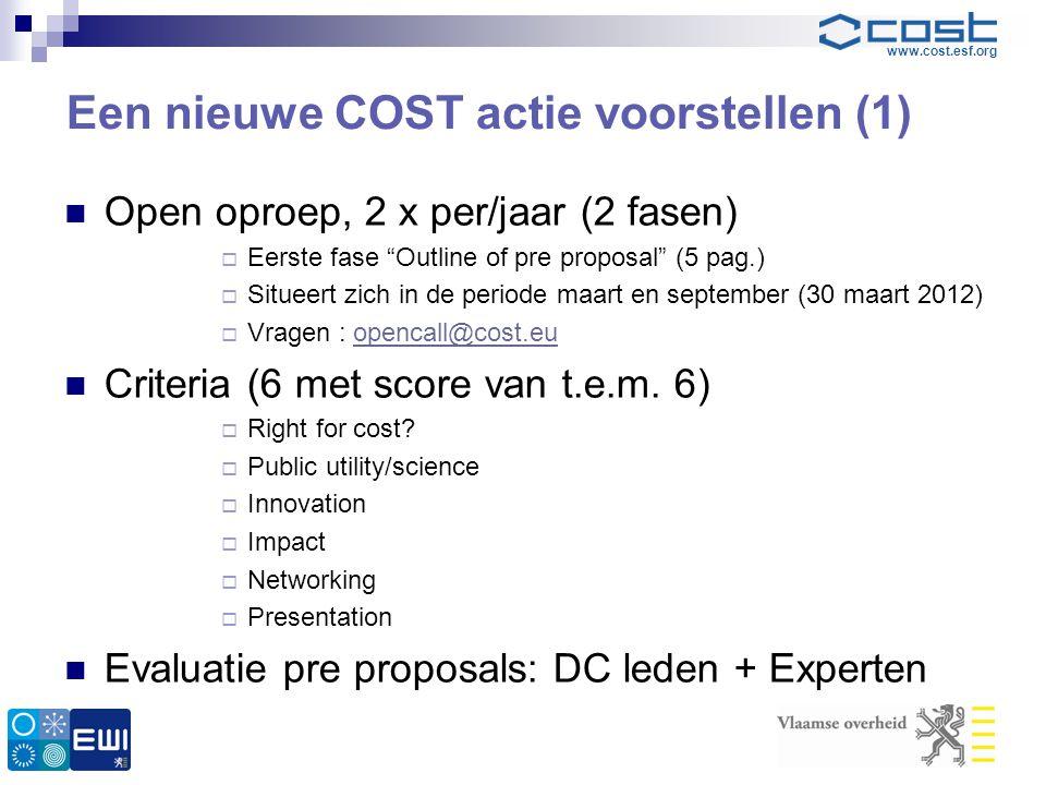 Een nieuwe COST actie voorstellen (1)