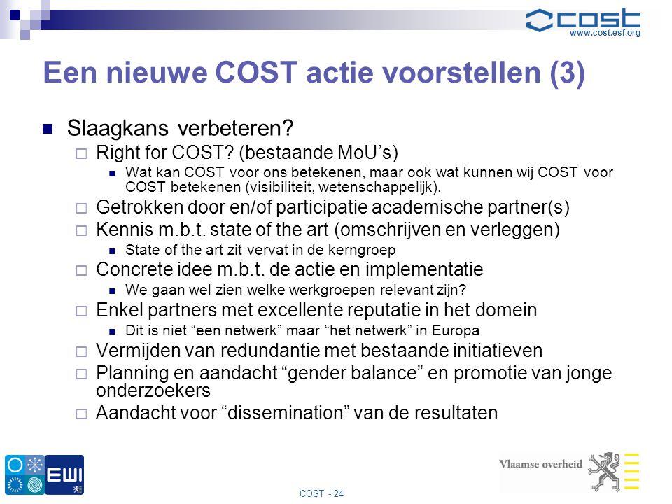 Een nieuwe COST actie voorstellen (3)