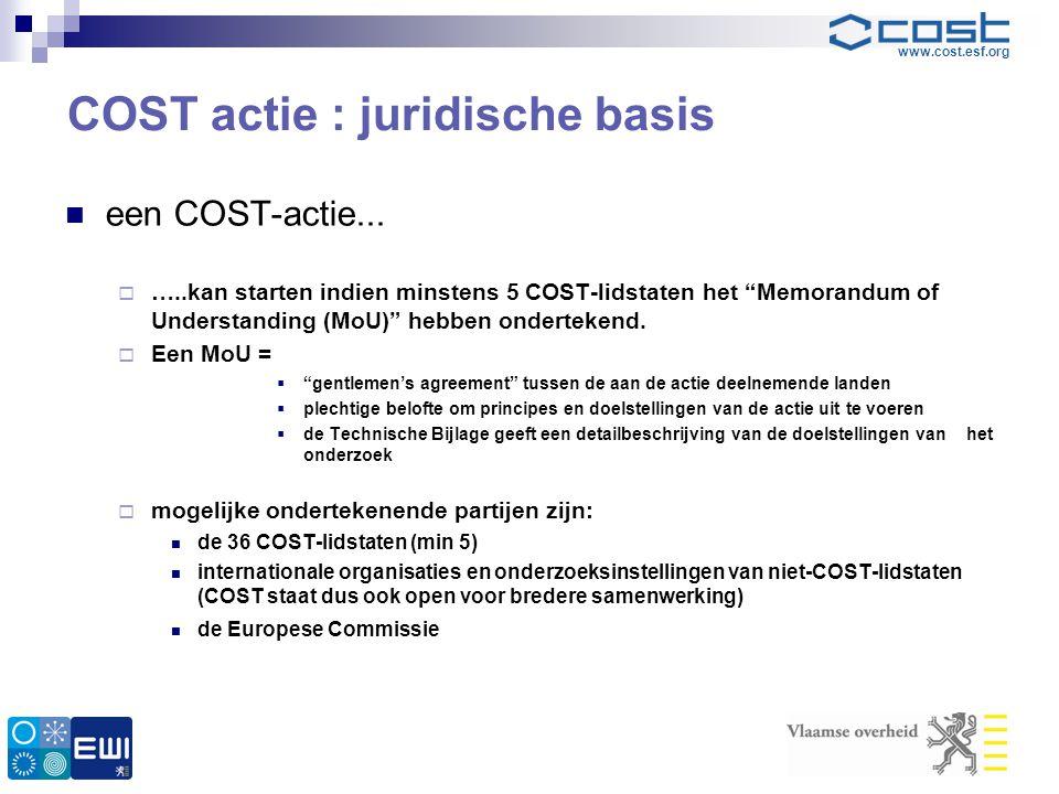 COST actie : juridische basis