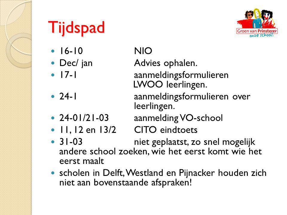 Tijdspad 16-10 NIO Dec/ jan Advies ophalen.
