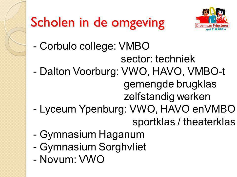 Scholen in de omgeving - Corbulo college: VMBO sector: techniek