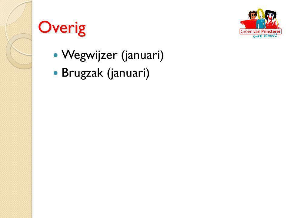 Overig Wegwijzer (januari) Brugzak (januari)
