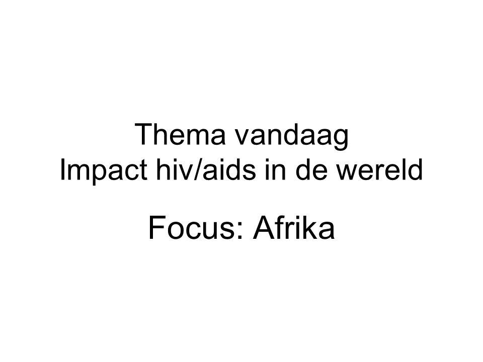 Thema vandaag Impact hiv/aids in de wereld
