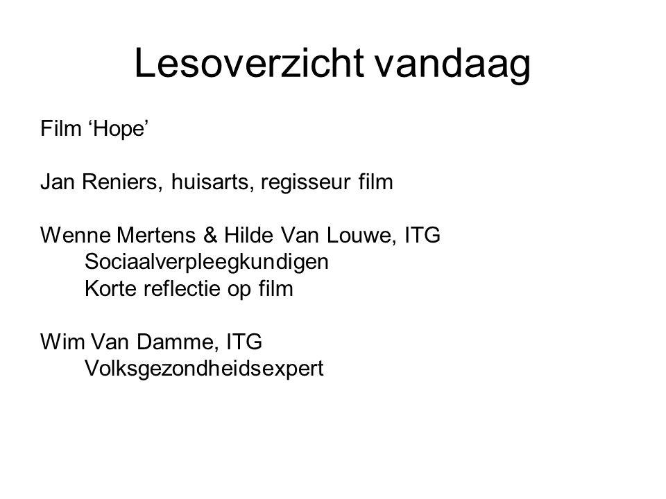 Lesoverzicht vandaag Film 'Hope' Jan Reniers, huisarts, regisseur film