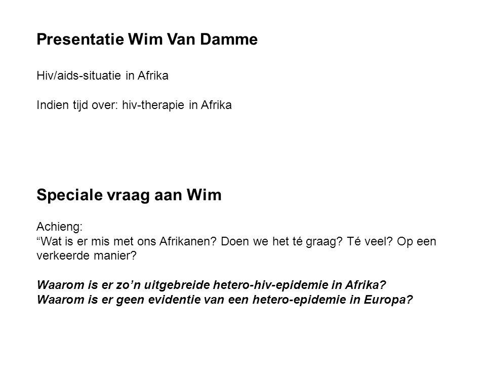 Presentatie Wim Van Damme