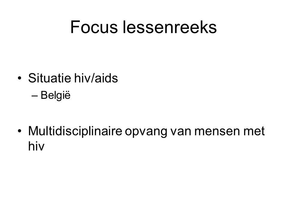 Focus lessenreeks Situatie hiv/aids