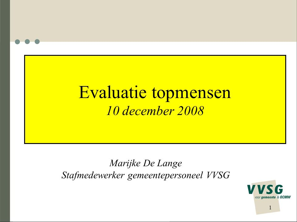 Evaluatie topmensen 10 december 2008