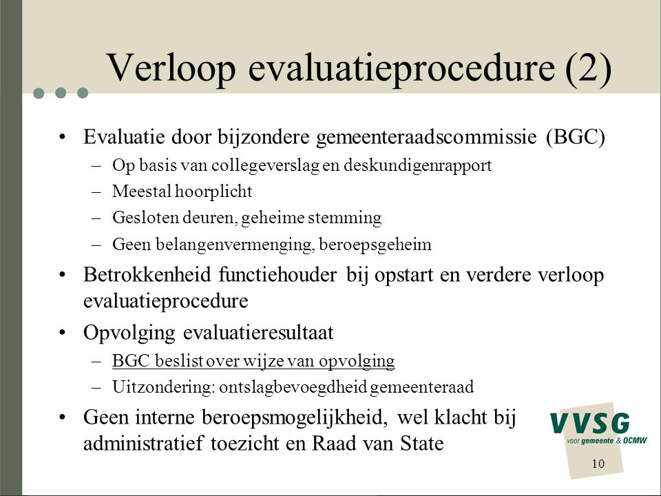 Verloop evaluatieprocedure (2)