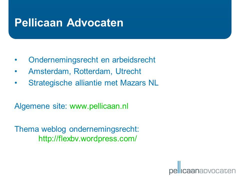 Pellicaan Advocaten Ondernemingsrecht en arbeidsrecht