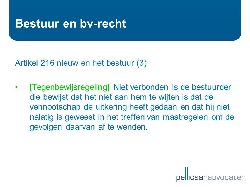 Bestuur en bv-recht Artikel 216 nieuw en het bestuur (3)
