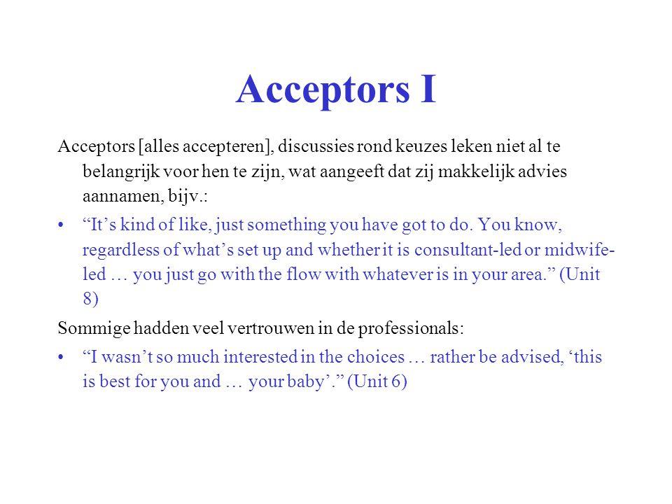 Acceptors I