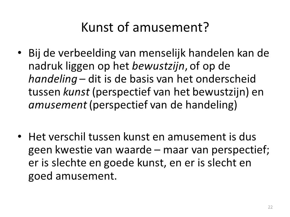Kunst of amusement