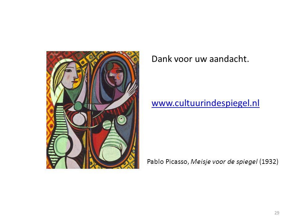 Dank voor uw aandacht. www.cultuurindespiegel.nl
