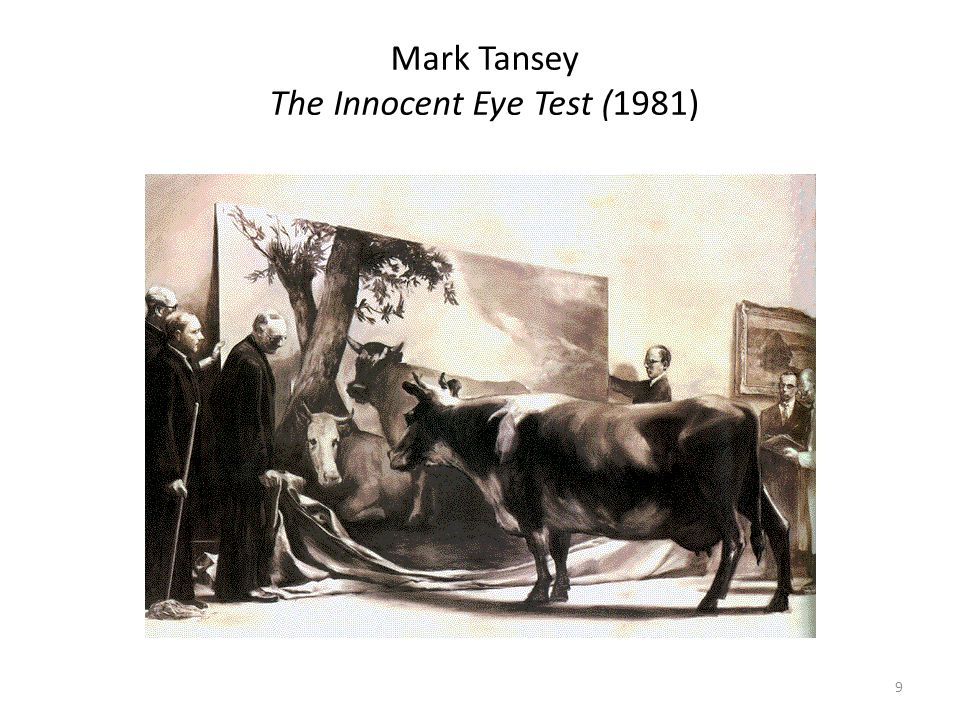 Mark Tansey The Innocent Eye Test (1981)