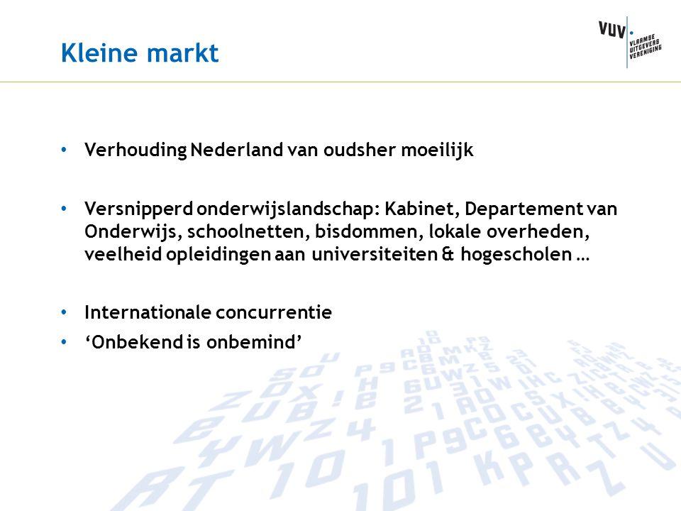 Kleine markt Verhouding Nederland van oudsher moeilijk