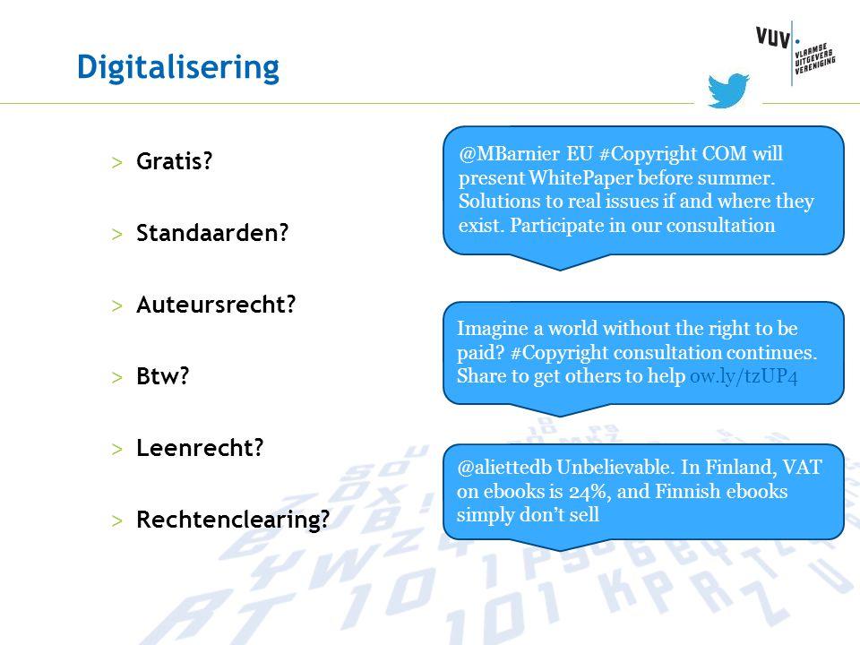 Digitalisering Gratis Standaarden Auteursrecht Btw Leenrecht