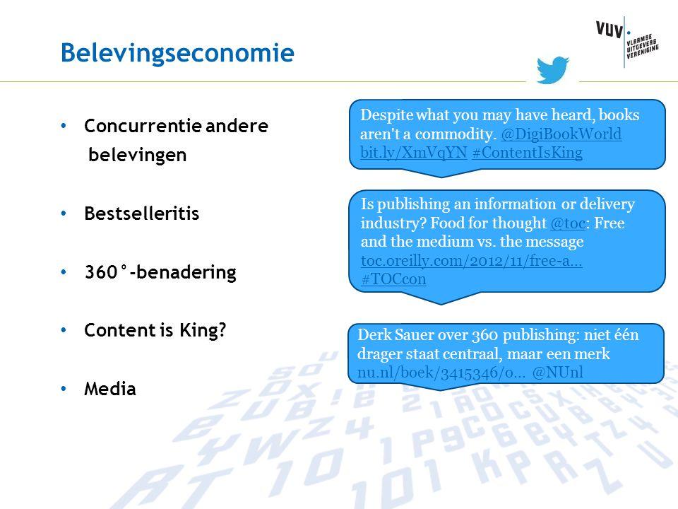 Belevingseconomie Concurrentie andere belevingen Bestselleritis