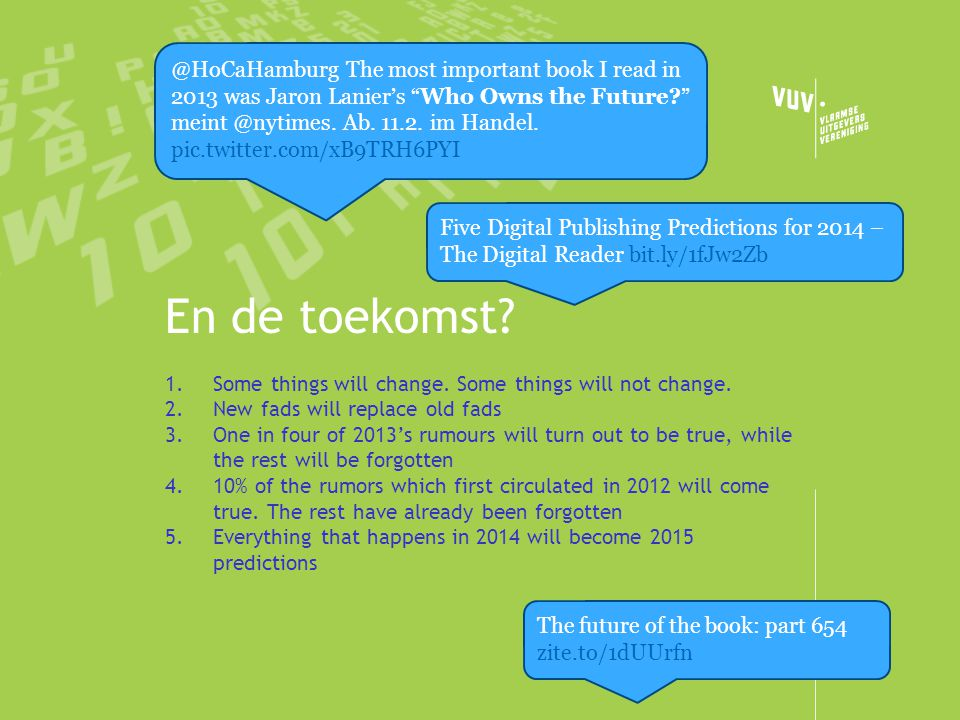 @HoCaHamburg The most important book I read in 2013 was Jaron Lanier's Who Owns the Future Ab im Handel. pic.twitter.com/xB9TRH6PYI