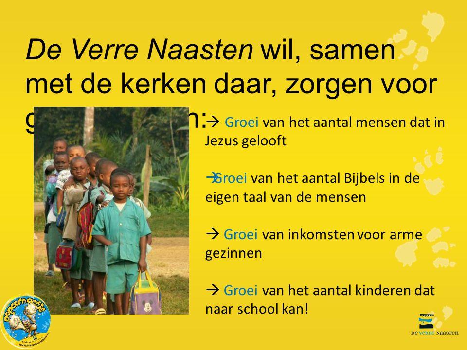 De Verre Naasten wil, samen met de kerken daar, zorgen voor groei in Benin: