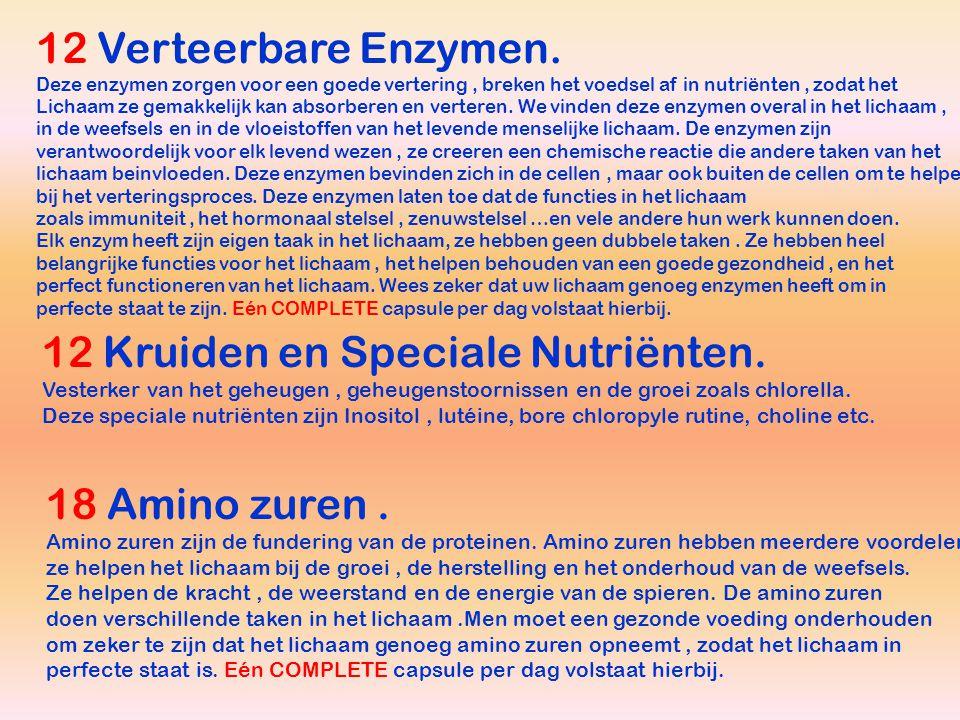 12 Kruiden en Speciale Nutriënten.