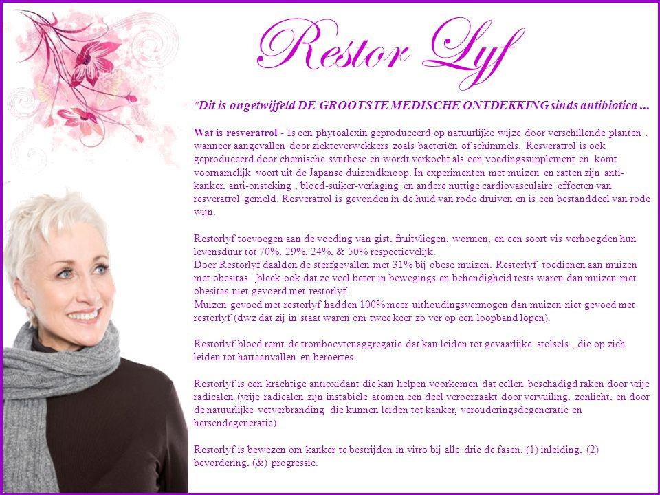 Restor Lyf Dit is ongetwijfeld DE GROOTSTE MEDISCHE ONTDEKKING sinds antibiotica ...