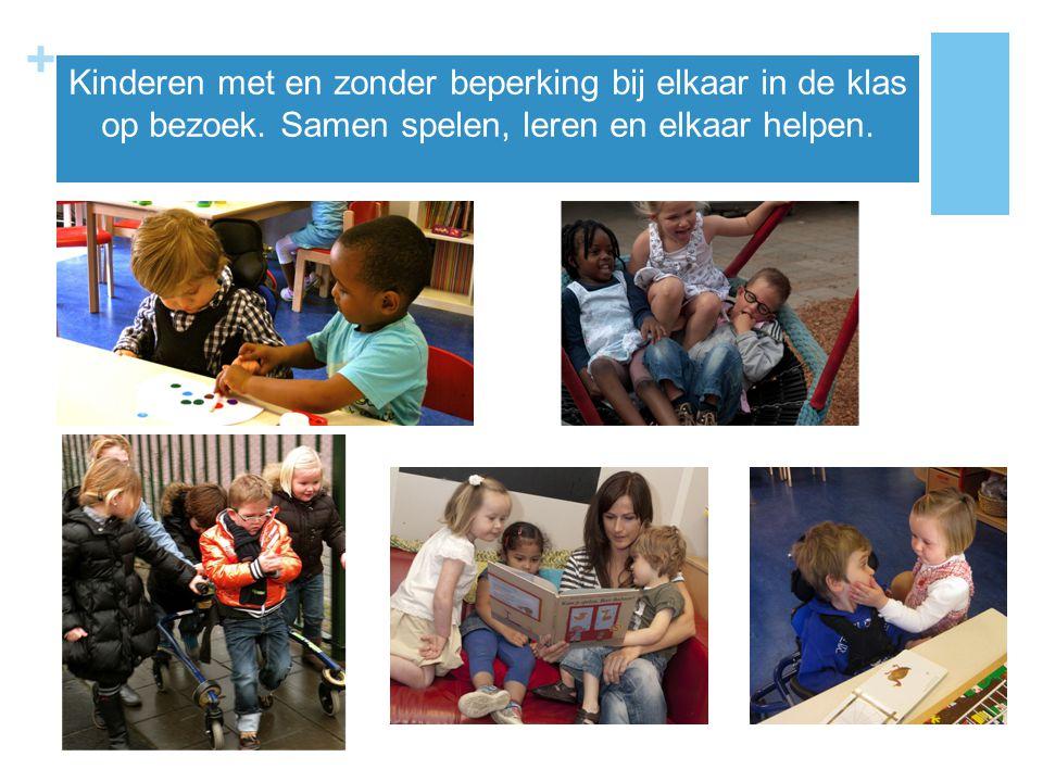 Kinderen met en zonder beperking bij elkaar in de klas op bezoek