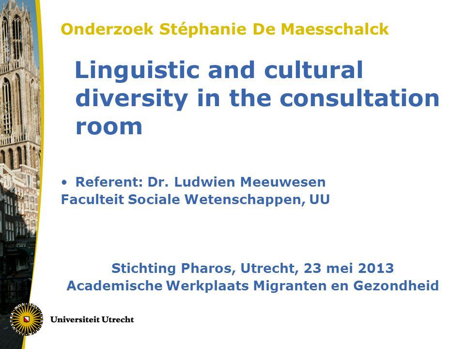 Onderzoek Stéphanie De Maesschalck