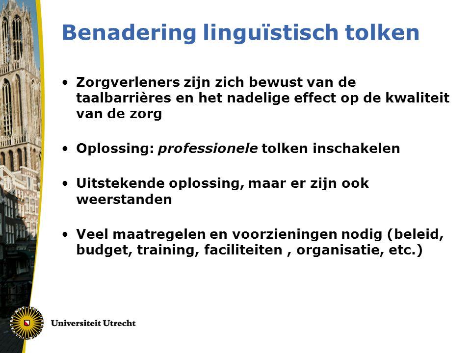 Benadering linguïstisch tolken