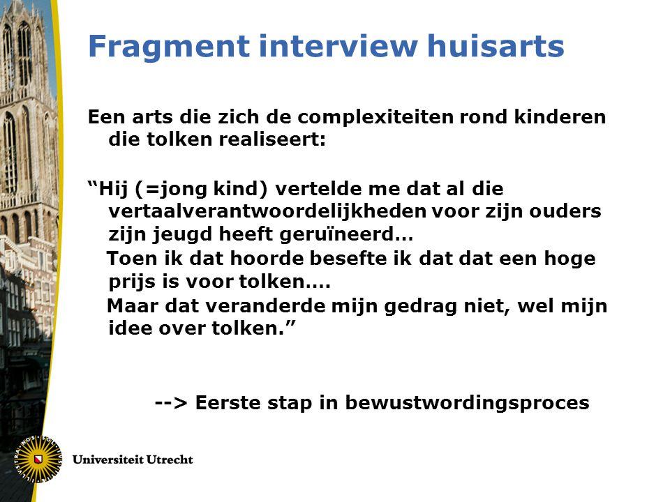 Fragment interview huisarts
