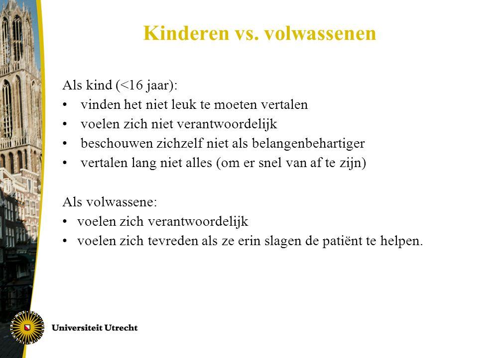 Kinderen vs. volwassenen