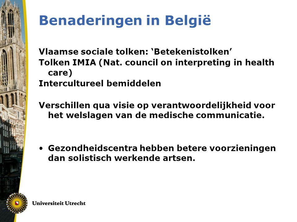 Benaderingen in België