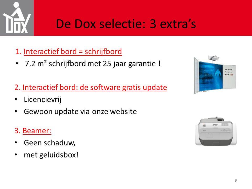 De Dox selectie: 3 extra's
