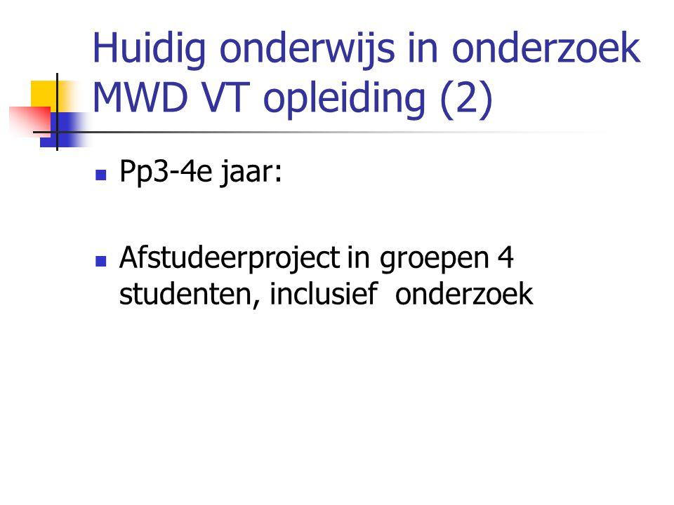 Huidig onderwijs in onderzoek MWD VT opleiding (2)