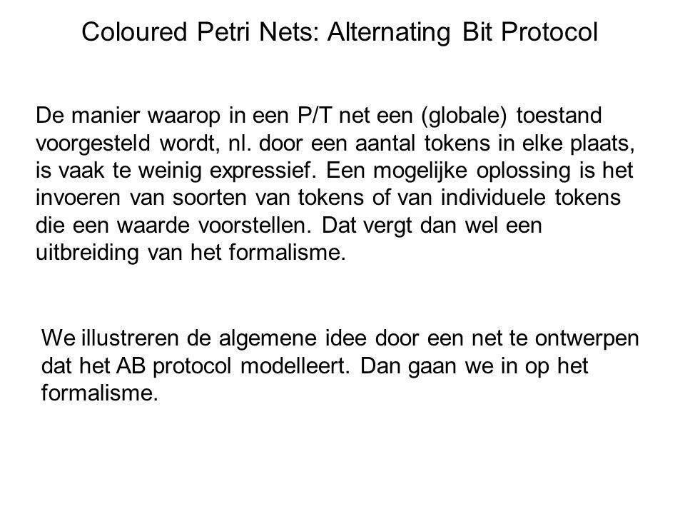 Coloured Petri Nets: Alternating Bit Protocol