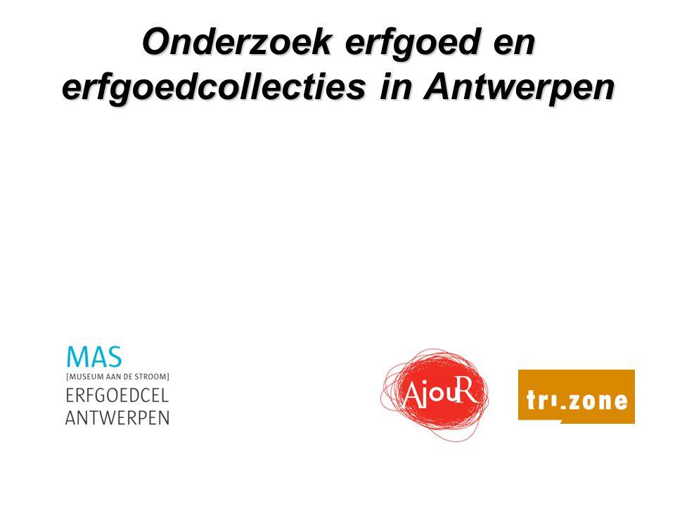 Onderzoek erfgoed en erfgoedcollecties in Antwerpen