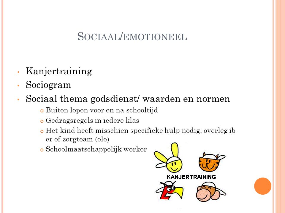 Sociaal/emotioneel Kanjertraining Sociogram
