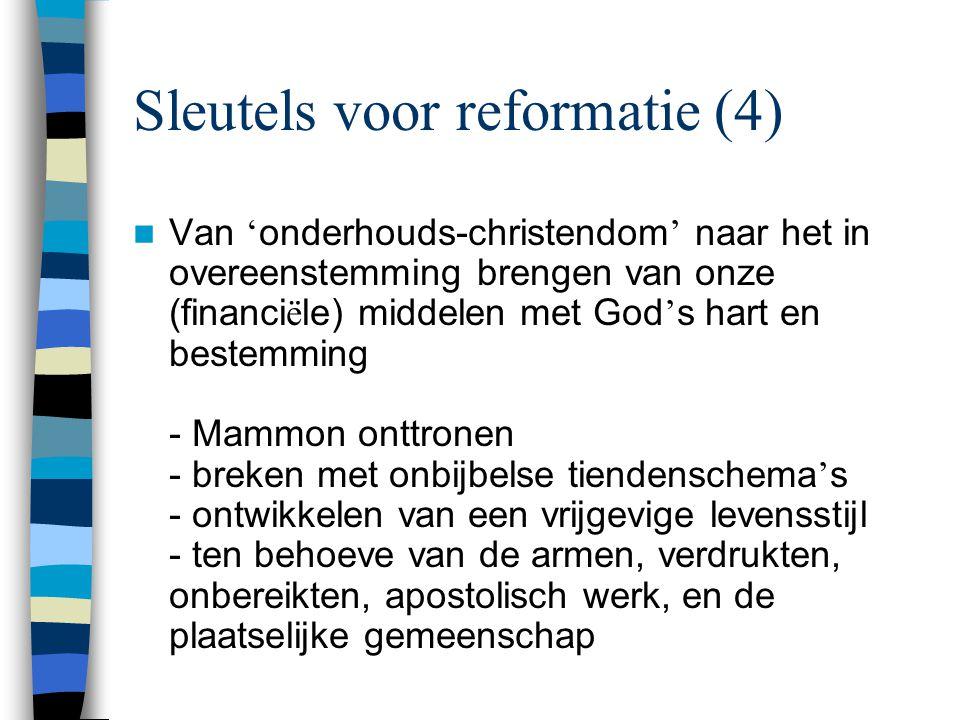 Sleutels voor reformatie (4)