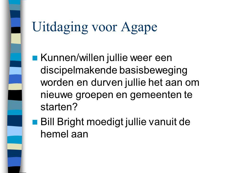 Uitdaging voor Agape