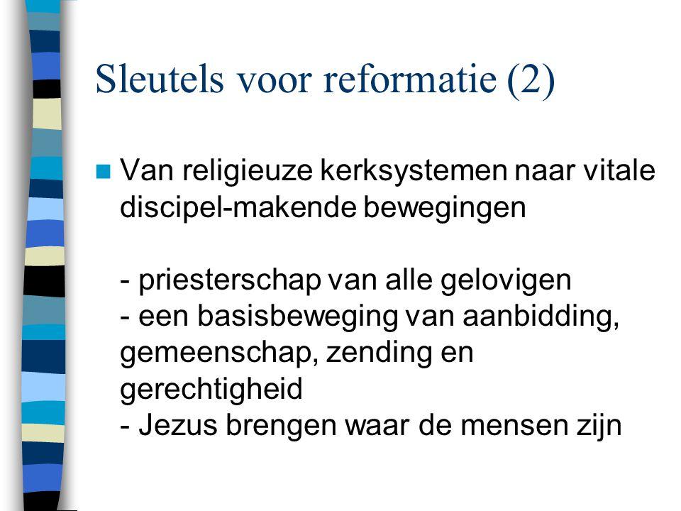 Sleutels voor reformatie (2)