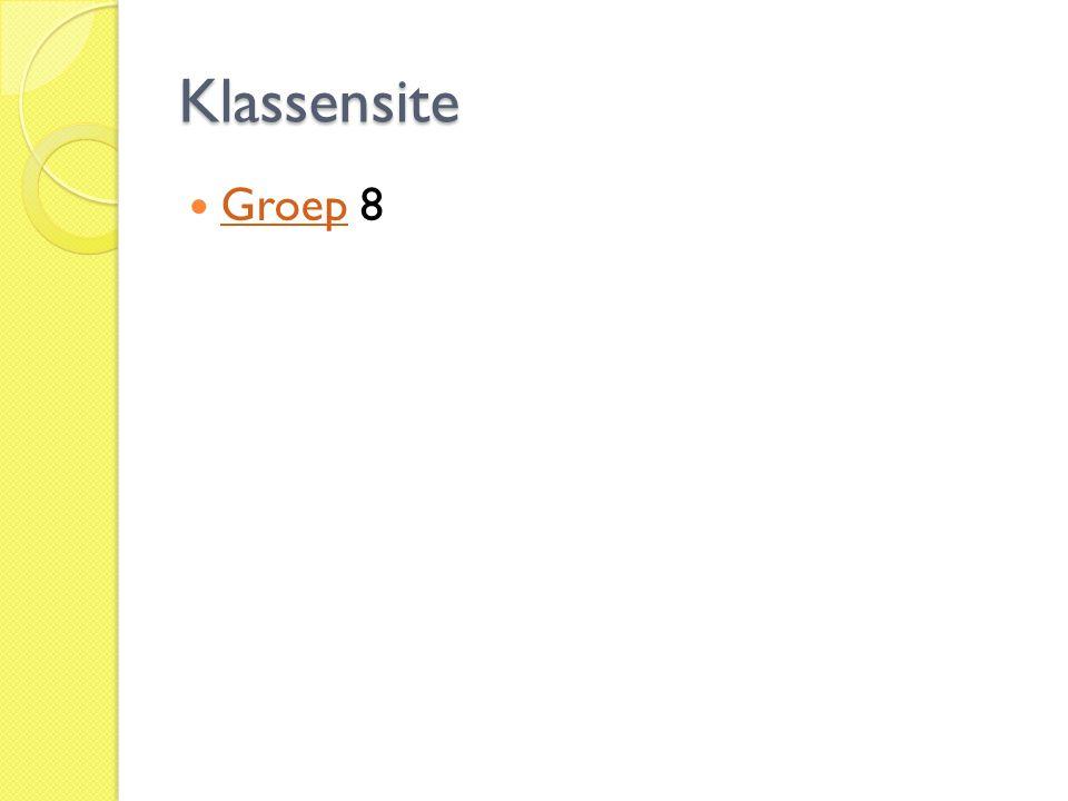 Klassensite Groep 8