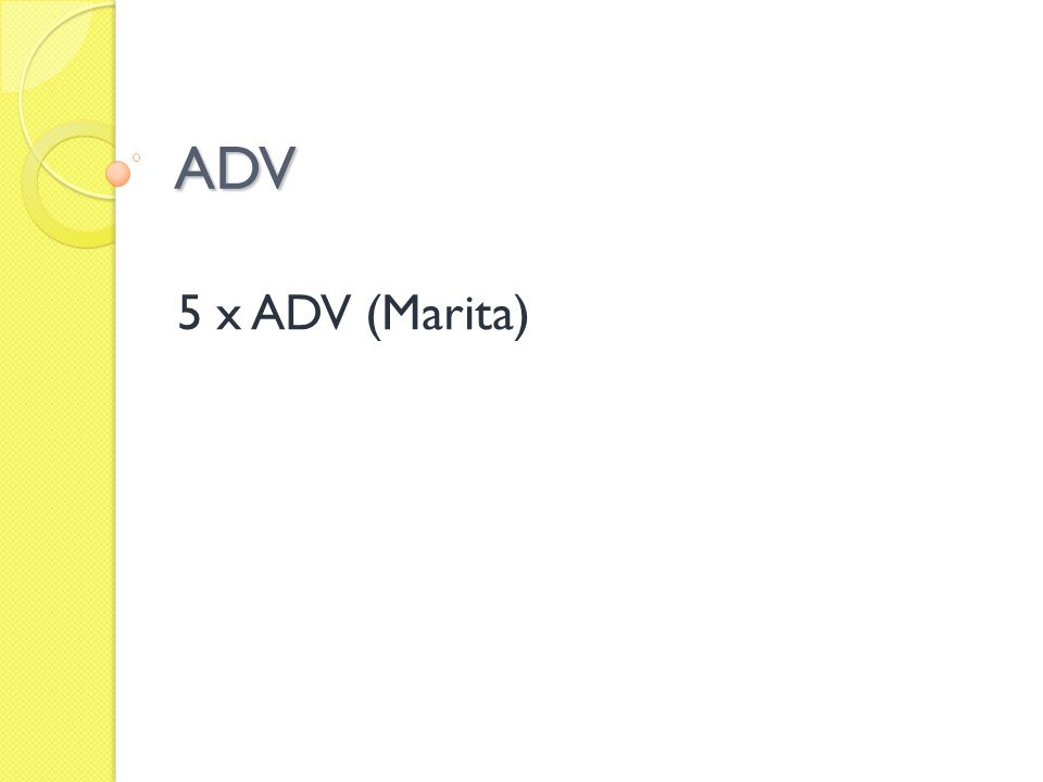 ADV 5 x ADV (Marita)